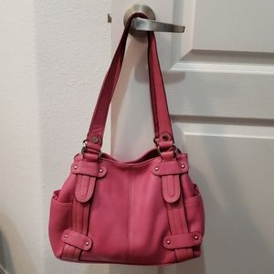 Pink leather tignanello purse